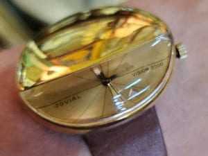 Jovial Vision 2000 Gold Watch